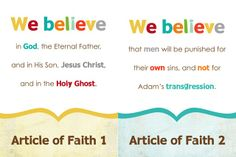 Articles of Faith Printable