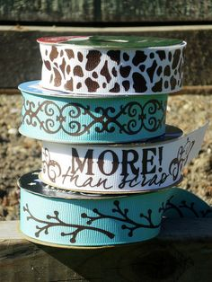 Custom ribbon using heat transfer and the silhouette