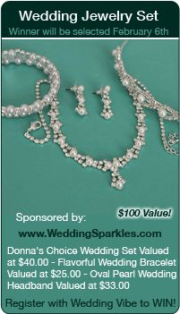 Wedding Sweepstakes - Win a jewelry set in this giveaway for your wedding!