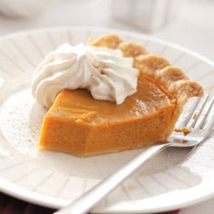 Cinnamon Pumpkin Pie Recipe from Taste of Home