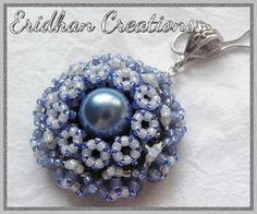 beaded flower pendant