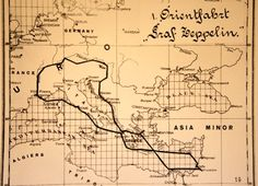 Route of the 1929 Zepplin tour of the Mediterranean and Middle East