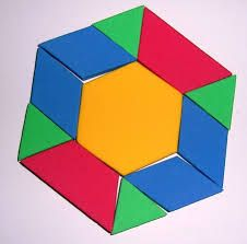 A motivation for fractions: If I lose my red trapezoids from this shape, how much of my wealth have I lost?