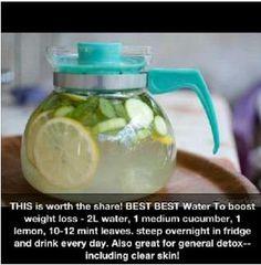 Water recipe to detox & lose weight