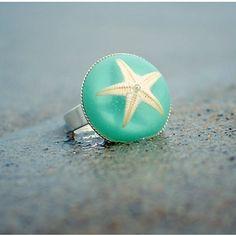 fashion, starfish ring, cloth, style, accessori