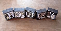 Cute letter blocks to spell out last name!!
