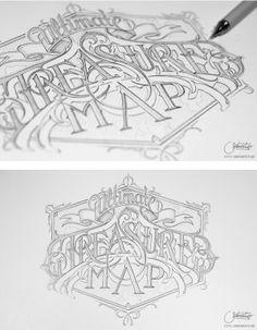 Hand Lettering By Martin Schmetzer