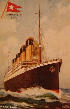 A White Star Line postcard of the RMS Titanic.
