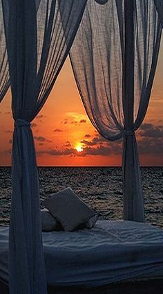 ocean sunrise, beach view, heaven, dream, romantic beach, beach houses, amazing view, place, outdoor curtains beach