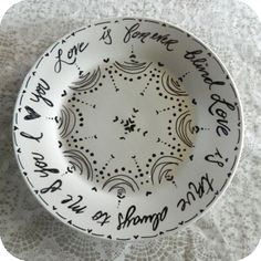 How to decorate plates / cups with paintpen sharpie
