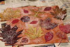 Mod Podge Fall Leaves