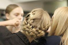 I think I'll draw this sometime. fashion, hairstyles, makeup, braid updo, braid bun, braids, hair style, beauti, hair idea