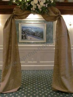 burlap covered wedding arch, Worcester florists - Sprout: Wedding - Succulents and Burlap