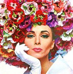1966 cover shot of Wilhelmina wearing a Halston Hat