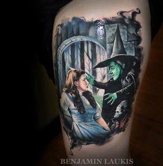 Wizard Of Oz Tattoo By Benjamin Laukis