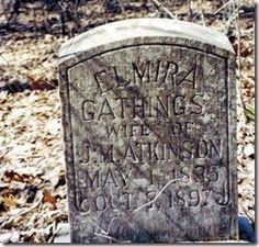 Elmira Gathings Tombstone #genealogy #familyhistory