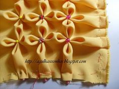 Flower Stitch - I love this! ~ would be such a cute pillow