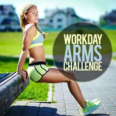 Workday Arms Challenge requires a stable chair and you! You can either do all reps at once or break them up throughout the day. Let's work to define our arms! #workday #arms #challenge #strength
