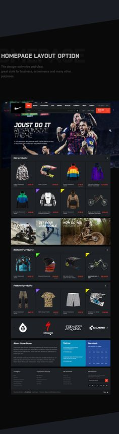 NIKE Concept & Free PSD Pack by HEZY THEME, via Behance #interface #web #ui