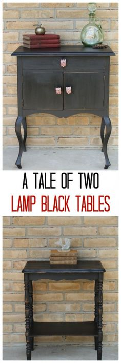 two #generalfinishes lamp black tables diy