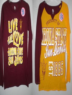 $11.00  Arizona State Sun Devils sports appareal for her long sleeves college shirt M L