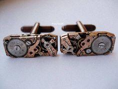 Venus Copper Steampunk Cufflinks by KoollooK on Etsy, $75.00