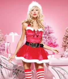 Miss Mistletoe Costume by Leg Avenue    - Sexy santa costumes for the Christmas parties –   #christmas #santa #sexy #sexysanta #noel #xmas #party #whitechristmas #snow #fancydress #costume #fancydresscostume #sparklingstrawberry