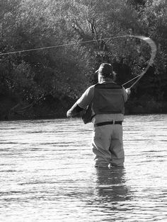 Black and White fly fishing