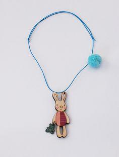 the   pompom bunny    necklace