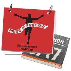 Pride is Forever BibFOLIO - Male Runner - RED from GoneForaRUN.com