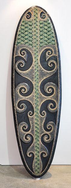 James Atutahi Kura Gallery New Zealand Art Design Maori Carving Kopapa Surf Board