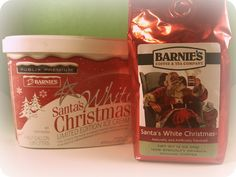 If you live anywhere near a PUBLIX Supermarket. These two items are a MUST GET NOW! Barnie's Santa's White Christmas Coffee and Ice Cream!