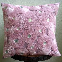 light pink satin ribbon pillow #projectnursery #honest #pinparty #bloom