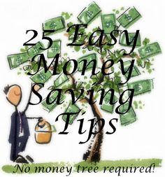 25 easy money saving tips