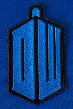 Dr. Who Tardis Logo Patch by 8BitSpock on Etsy, $9.99