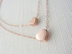 <3 Double Heart Necklace <3