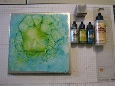 Ceramic Tile & Alcohol Inks
