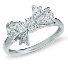 Diamond bow ring. beautiful