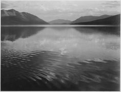 "Looking across lake, ""McDonald Lake, Glacier National Park,"" Montana. by The U.S. National Archives, via Flickr"
