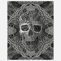 Lace Skull Print