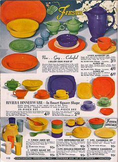 Fiesta Ware..These are my next to collect..bright and fun...what's not to love.