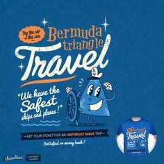 BERMUDA TRIANGLE TRAVEL by weird&co on Threadless
