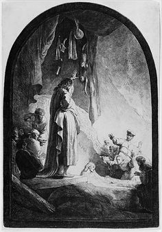 The Raising of Lazarus: The Larger Plate, ca. 1632, etching
