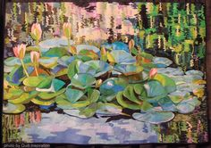 Monet in Pasadena by Melinda Bula.  West Coast Wonders quilt exhibit, 2013 Houston IQF, photo by Quilt Inspiration