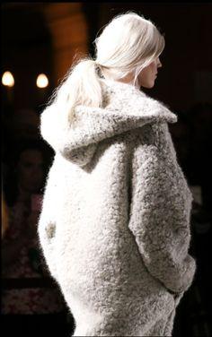 lovely chunky hooded coat