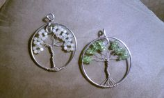 Tree of Life pendants I made from this pin: http://pinterest.com/pin/164662930095400637/