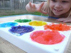 Non-toxic finger paint.