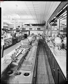 Drugstore Lunch Counter by Oklahoma Historical Society - Research, via Flickr