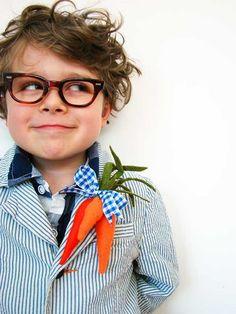 boutonnier, hipster, easter, carrot, kids fashion, glass, children, kid hair, little boys