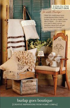 burlap can be a classic home décor